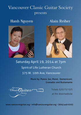 Hanh Ngyuen, Alain Reiher @ Spirit of Life Lutheran Church Apr 19 2014 - Jul 23rd @ Spirit of Life Lutheran Church