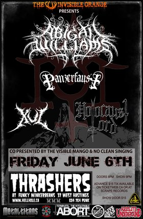 BLACKENED METAL ~~: Abigail Williams, PANZERFAUST, XUL, Holocaust Lord @ Funky Winker Beans Jun 6 2014 - Jun 4th @ Funky Winker Beans