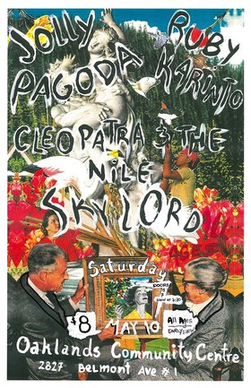 A GREAT ALL AGES SHOW!: JOLLY PAGODA, RUBY KARINTO, CLEOPATRA & THE NILE, SKYLORD @ Oaklands Community Association May 10 2014 - Jan 25th @ Oaklands Community Association