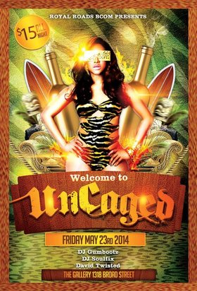Uncaged - Victoria's wildest party of the summer: Cale Robichaud, DJ Soulfix, David Twisted @ The Gallery Bar May 23 2014 - Oct 21st @ The Gallery Bar