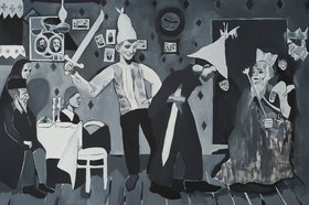 Erik Volet: Scene from The Yiddish Theatre and other paintings - Oct 26th @ Ministry of Casual Living