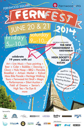Free Festival in Fernwood: Celebrate Summer Solstice at FernFest!: The New Groovement, Kikeyambay, Shoestring Bourbon, The Leg-Up Program, Mufaro, Downtown Mischief, San Felix, Medana, The Aaron Wood Band, Fox Glove @ Fernwood Square Gazebo Jun 21 2014 - Jun 3rd @ Fernwood Square Gazebo