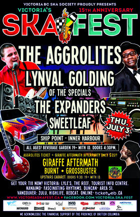 Victoria Ska Festival presents!: THE AGGROLITES, Lynval Golding (Of The Specials), Expanders, Sweet Leaf @ Ship Point (Inner Harbour) Jul 3 2014 - Sep 26th @ Ship Point (Inner Harbour)