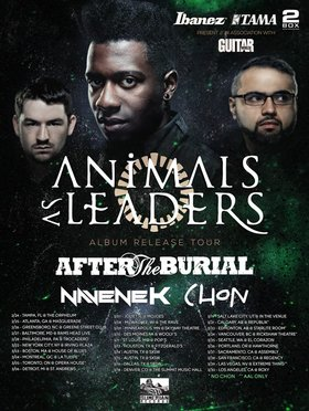 Animals As Leaders, After the Burial, Navene-K  (Navene Koperweis) @ Rickshaw Theatre Mar 24 2014 - Sep 23rd @ Rickshaw Theatre
