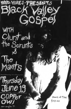 Black Valley Gospel, The Mants, Clunt & the Scrunts @ Copper Owl Jun 19 2014 - Mar 31st @ Copper Owl