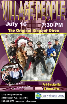 The Village People, the Timebenders @ The Mary Winspear Centre Jul 16 2014 - Jul 11th @ The Mary Winspear Centre