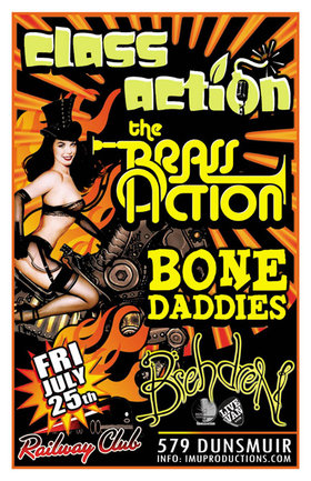 The Brass Action, Class Action, Bone Daddies, Brehdren @ Railway Club Jul 25 2014 - Apr 19th @ Railway Club