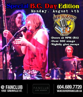 ROCKAOKE LIVE!! Special BC Day Edition: The Naturals @ Vancouver FanClub Aug 4 2014 - Oct 31st @ Vancouver FanClub