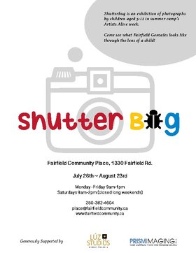 Shutterbug @ Fairfield Hall Jul 26 2014 - May 13th @ Fairfield Hall