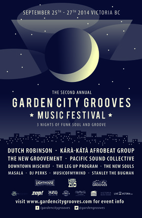 Garden City Grooves Saturday Night (early show): Dutch Robinson, The New Souls @ Lucky Bar Sep 27 2014 - Dec 7th @ Lucky Bar