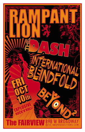 Rampant Lion, Dash, International Blindfold, Beyond Square  @ Fairview Pub Oct 10 2014 - Jun 3rd @ Fairview Pub