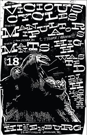 "Thee Manipulators (reunion) & Mants 7"" Release Double-Header!: Thee Manipulators, The Vicious Cycles, The Mants, High Wasted, DJ Keith McCafferty @ The Hindenburg Oct 18 2014 - Mar 31st @ The Hindenburg"