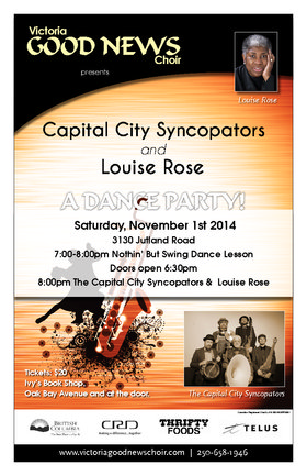 Captial City Syncopators & Louise Rose: A Dance Party!: Capital City Syncopators, Louise Rose @ 3130 Jutland Rd Nov 1 2014 - Aug 13th @ 3130 Jutland Rd