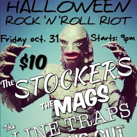Hallowe'en  Rock n Roll Riot !!: The Stockers, the MAGS, LINE TRAPS, Fins Out @ The Cambie at the  Esquimalt Inn Oct 31 2014 - Apr 8th @ The Cambie at the  Esquimalt Inn