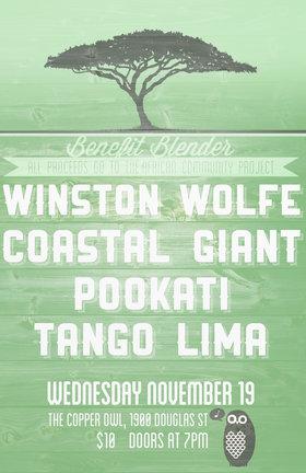Winston Wolfe, Coastal Giant, Pookati, Tango Lima @ Copper Owl Nov 19 2014 - Sep 17th @ Copper Owl