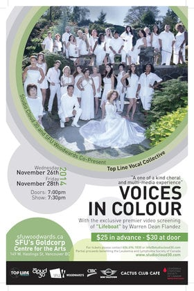 """Voices In Colour"" ft: Top Line Vocal Collective, Warren Dean Flandez @ Goldcorp Centre for the Arts Nov 26 2014 - Dec 13th @ Goldcorp Centre for the Arts"