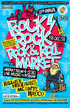9th Annual Rock, Rock, Rock & Roll Market: Hillside Hooligans, MC Unite!, RADCO @ Logan's Pub Dec 5 2014 - Jun 2nd @ Logan's Pub