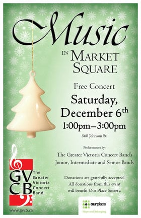 Greater Victoria Concert Band @ Market Square Dec 6 2014 - Sep 23rd @ Market Square