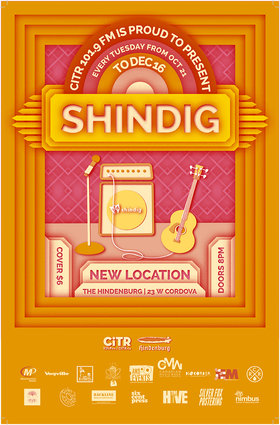 CiTR presents Shindig Semis #3: Tarantula Head, Funk Schwey, Purple Hearts Social Club @ The Hindenburg Jan 27 2015 - Jan 17th @ The Hindenburg