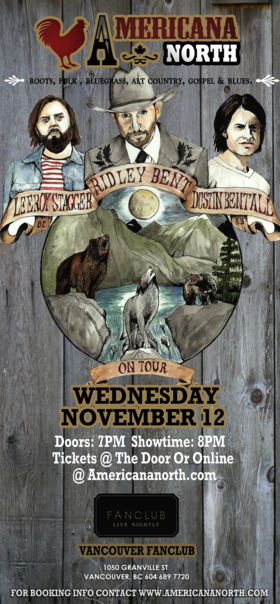 Leeroy Stagger, Dustin Bentall, Ridley Bent @ Vancouver FanClub Nov 12 2014 - Oct 26th @ Vancouver FanClub