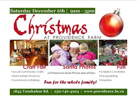 An old fashion Christmas at Providence Farm @ Providence Farm Dec 6 2014 - Nov 26th @ Providence Farm