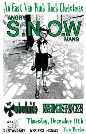 PUNK ROCK XMAS SKATE BASH: Angry Snowmans, The Tubuloids, Making Strangers  @ SBC Restaurant Dec 11 2014 - Jan 21st @ SBC Restaurant