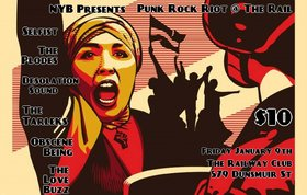Punk Rock Riot @ The Rail: Obscene Being, Selfist, Love Buzz, The Plodes, The Desolation Sound, The TARLEKS @ Railway Club Jan 9 2015 - Dec 3rd @ Railway Club