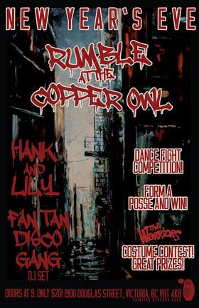 NYE 2014: Rumble at the Copper Owl!: Hank Pine & Lily Fawn, the FAN TAN DISCO GANG @ Copper Owl Dec 31 2014 - May 28th @ Copper Owl