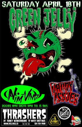 INSANITY RETURNS IN THE FORM OF A GIANT PUPPET SHOW!~~: Green Jelly, Nim Vind, Daddy Issues @ Funky Winker Beans Apr 18 2015 - Jan 19th @ Funky Winker Beans
