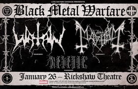 MAYHEM, Watain, Revenge @ Rickshaw Theatre Jan 26 2015 - May 22nd @ Rickshaw Theatre