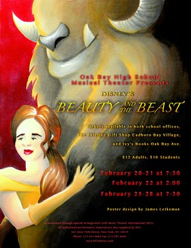 Beauty and the Beast @ Oak Bay High Theatre Feb 20 2015 - Jan 25th @ Oak Bay High Theatre