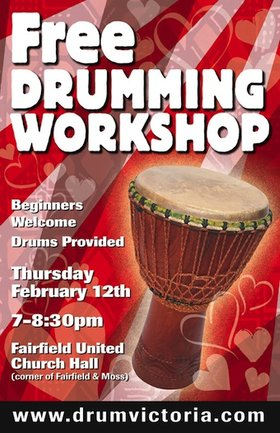 FREE Drumming Workshop @ Fairfield Hall Feb 12 2015 - May 13th @ Fairfield Hall