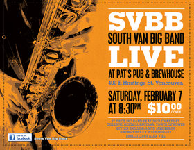 South Van Big Band @ Pat's Pub Feb 7 2015 - Nov 17th @ Pat's Pub