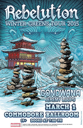 Rebelution (10PM), GONDWANA   (9PM), Jeremy Loops (cancelled) @ The Commodore Ballroom Mar 1 2015 - Jun 1st @ The Commodore Ballroom