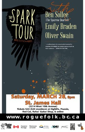 Oliver Swain, Ben Sollee, Emily Braden @ St. James Community Hall Mar 28 2015 - Jan 23rd @ St. James Community Hall