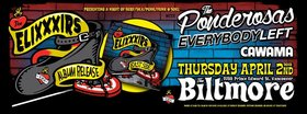 A Night of Surf, Ska-Punk, and Soul: The EliXXXirs, The Ponderosas, Everybody Left, Cawama @ The Biltmore Cabaret Apr 2 2015 - Oct 30th @ The Biltmore Cabaret