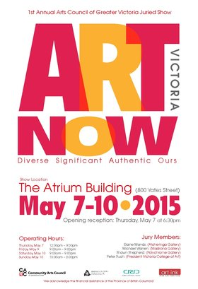 Art Victoria Now: CACGV juried exhibition @ The Atrium May 7 2015 - Feb 18th @ The Atrium