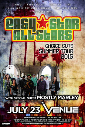 Easy Star All Stars, Mostly Marley Band @ Venue Jul 23 2015 - May 29th @ Venue