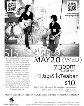 """unplugged"": Sister Speak @ Jagasilk Teabar May 20 2015 - Jan 24th @ Jagasilk Teabar"