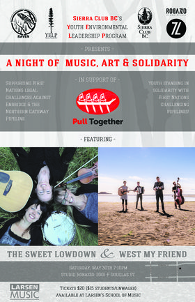 A Night of Music, Art & Solidarity: The Sweet Lowdown, West My Friend @ Studio Robazzo May 30 2015 - Aug 7th @ Studio Robazzo