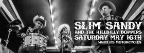Hillbilly boogie party!: Slim Sandy and the Hillbilly Boppers @ Wheelies Motorcyles May 16 2015 - Dec 8th @ Wheelies Motorcyles