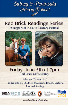 Visionary Authors Read in Sidney: Pamela Porter, Monique Gray Smith @ Red Brick Cafe, Sidney BC Jun 5 2015 - Feb 28th @ Red Brick Cafe, Sidney BC