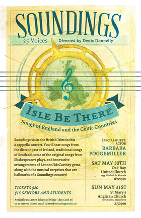 """Isle Be There"": Soundings Vocal Ensemble @ St. Mary's Anglican Church May 31 2015 - Jun 6th @ St. Mary's Anglican Church"