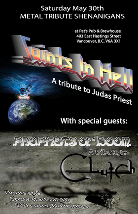 Metal Tribute Shenanigans: Saints In Hell, Prophets of Doom @ Pat's Pub May 30 2015 - Jun 5th @ Pat's Pub