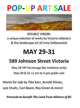 "Pop Up Art Show and Sale "" Doble Vision "": Arnold Shives, Roy Green, Lyle Schultz, Tiko Kerr, Irma Soltonovich  @ 589 Johnson St. May 29 2015 - Jan 21st @ 589 Johnson St."