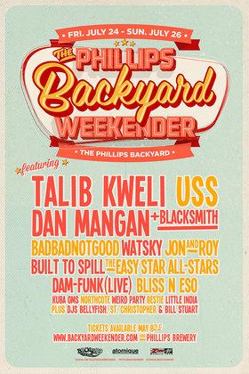 The Phillips Backyard Weekender: Talib Kweli, Easy Star All Stars, Dam-Funk (Live), Kuba Oms @ The Phillips Backyard (at Phillips Brewery) - Jul 24 2015 - Sep 21st @ The Phillips Backyard (at Phillips Brewery) -
