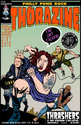 PHILLY PUNKS~~: Thorazine, The Shit Talkers, Fucking Unicorns @ Funky Winker Beans Aug 21 2015 - Mar 31st @ Funky Winker Beans