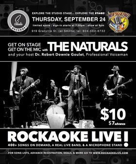 Live Band Karaoke ft: The Naturals @ Studio Records Oct 22 2015 - Oct 31st @ Studio Records