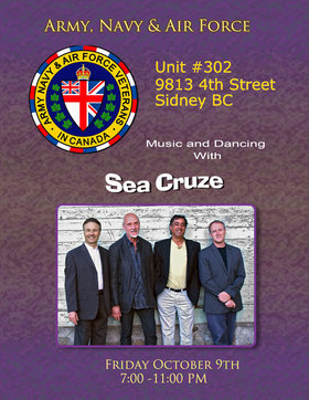 Seacruze @ ANAVETS Club 302 Oct 9 2015 - Sep 30th @ ANAVETS Club 302