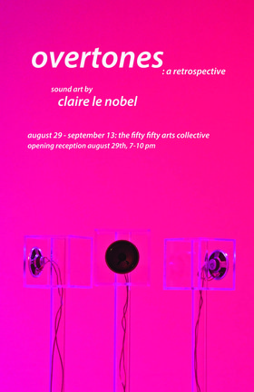 Overtones : a retrospective by Claire le Noble: Claire le Nobel @ the fifty fifty arts collective Aug 29 2015 - Mar 23rd @ the fifty fifty arts collective